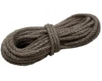 Веревка льняная крученая диаметр 6 мм, 10 м