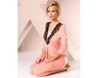 Ночная пижама персикового цвета S